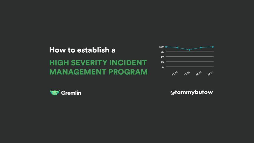 HOW TO ESTABLISH AN INCIDENT MANAGEMENT PROGRAM...