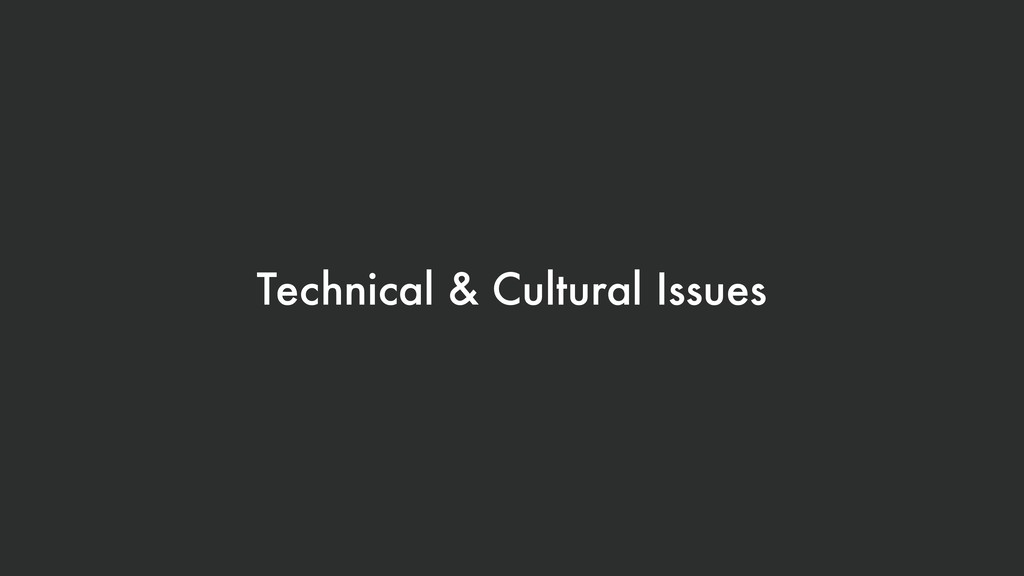 Technical & Cultural Issues