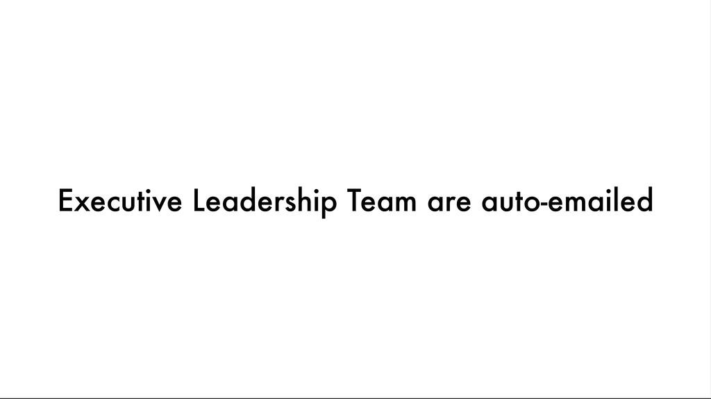 Executive Leadership Team are auto-emailed
