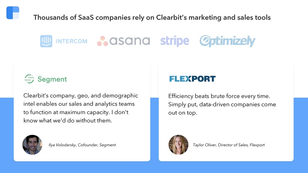 Clearbit's company, geo, and demographic intel ...