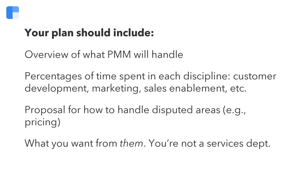 Your plan should include: Overview of what PMM ...