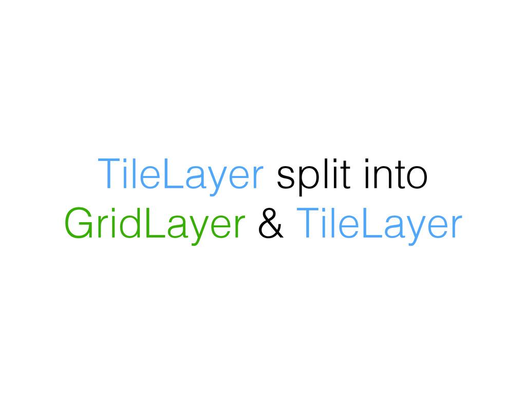 TileLayer split into GridLayer & TileLayer
