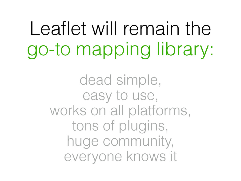Leaflet will remain the go-to mapping library: d...