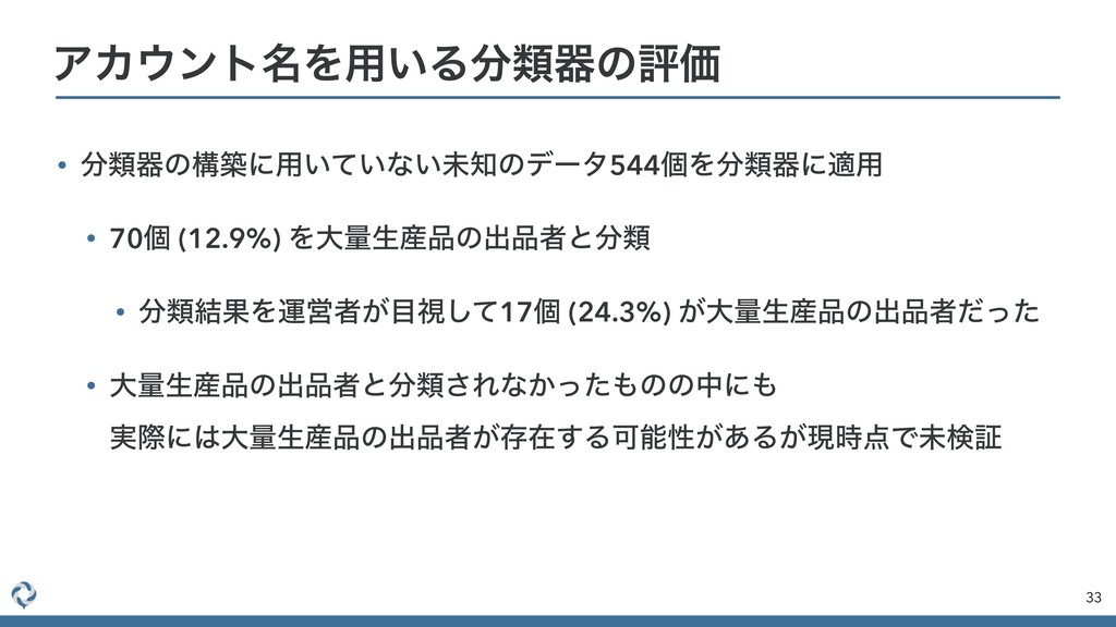 • ྨثͷߏஙʹ༻͍͍ͯͳ͍ະͷσʔλ544ݸΛྨثʹద༻ • 70ݸ (12.9%) ...