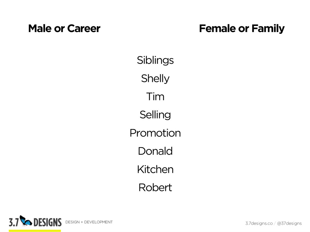 Male or Career 3.7designs.co / @37designs Femal...