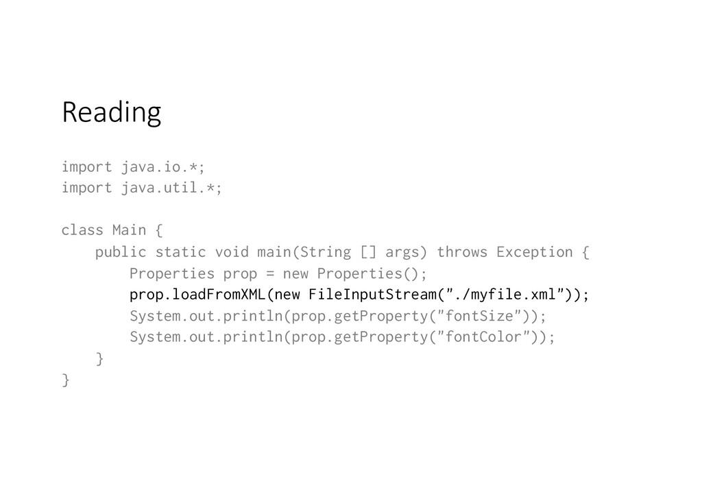 Reading import java.io.*; import java.util.*; c...
