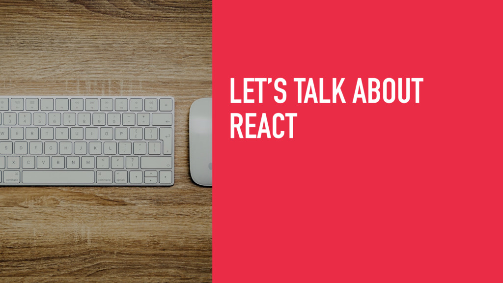 LET'S TALK ABOUT
