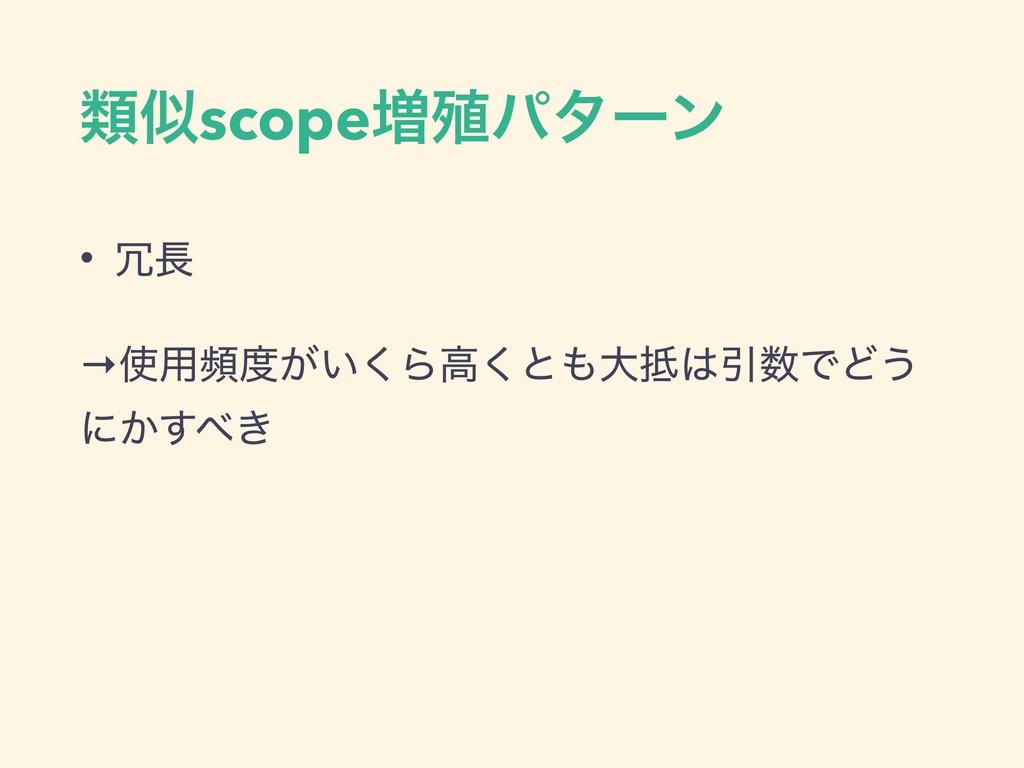 ྨscope૿৩ύλʔϯ •  →༻ස͕͍͘Βߴ͘ͱେҾͰͲ͏ ʹ͔͖͢