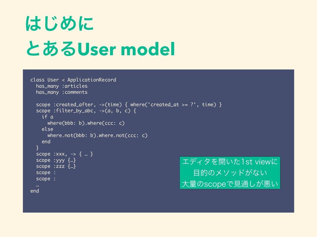 ͡Ίʹ ͱ͋ΔUser model class User < ApplicationReco...