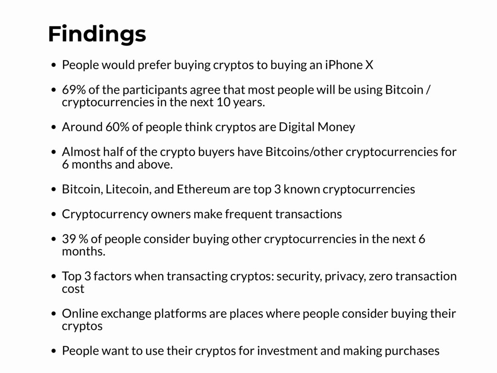 Findings People would prefer buying cryptos to ...