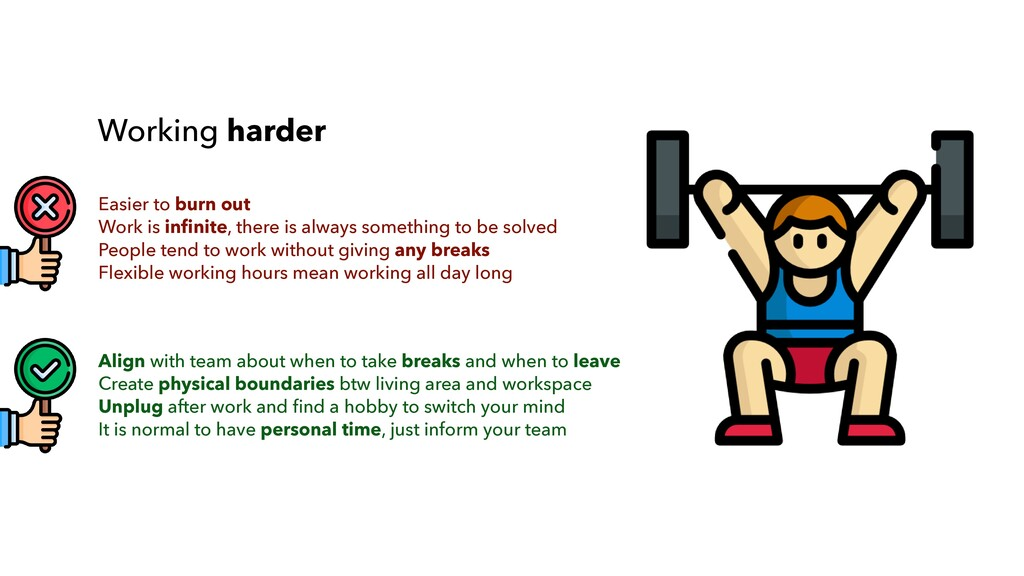 Align with team about when to take breaks and w...