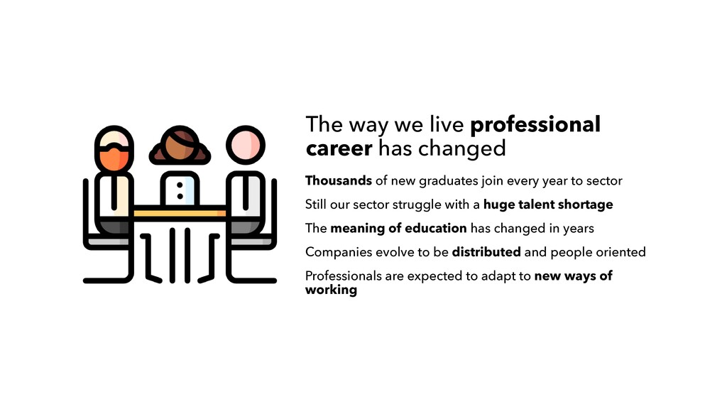 The way we live professional career has changed...