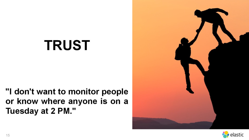 "15 TRUST ""I don't want to monitor people or kno..."