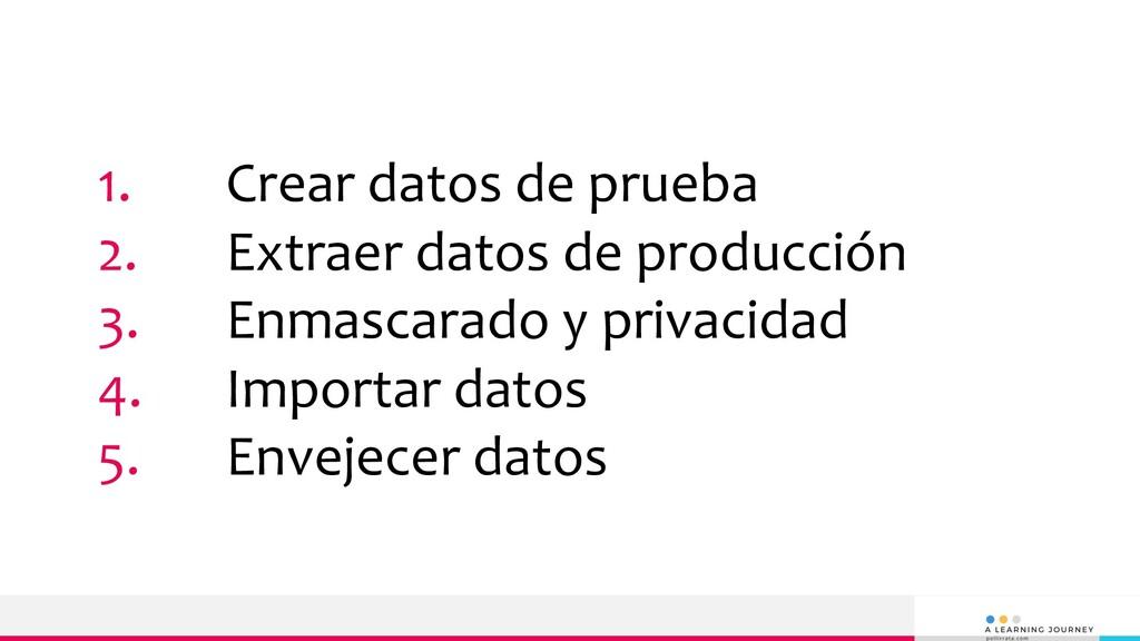 1. Crear datos de prueba 2. Extraer datos de pr...