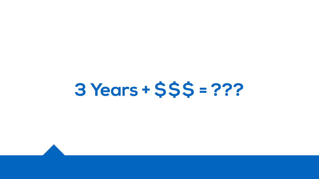 3 Years + $$$ = ???