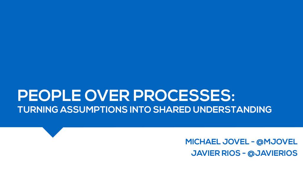 MICHAEL JOVEL - @MJOVEL JAVIER RIOS - @JAVIERIO...