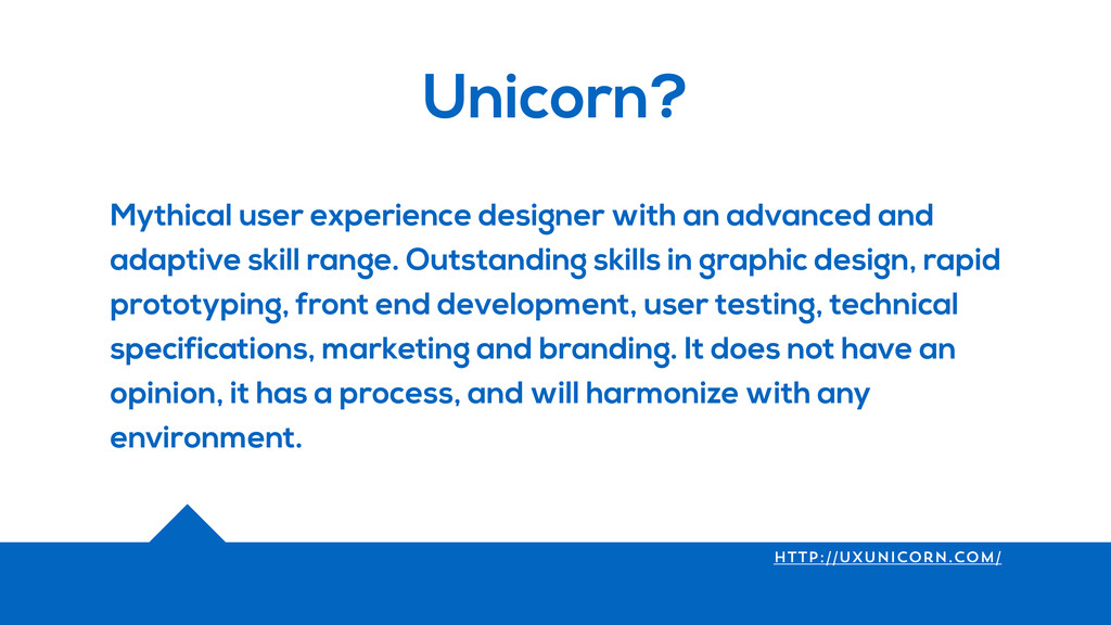 Unicorn? Mythical user experience designer with...