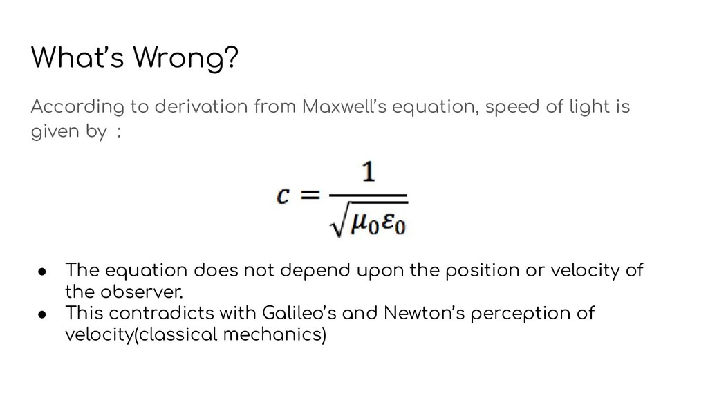What's Wrong? According to derivation from Maxw...