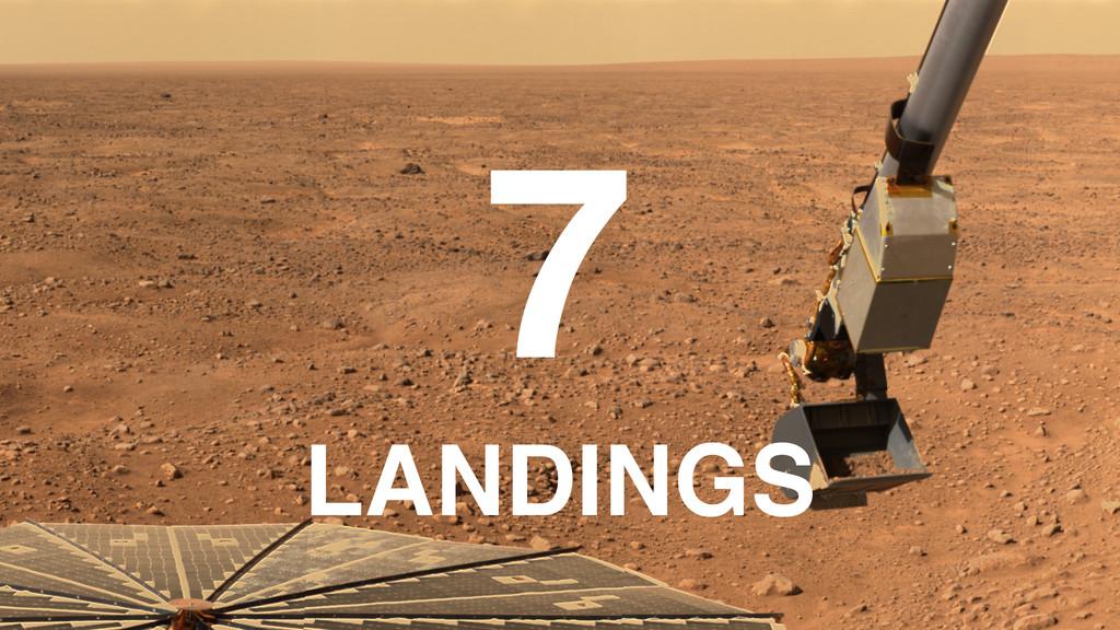 7 ! LANDINGS