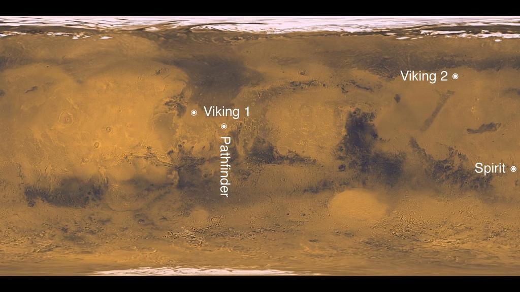 ๏ Viking 1 Viking 2 Spirit ๏ ๏ ๏ Pathfinder