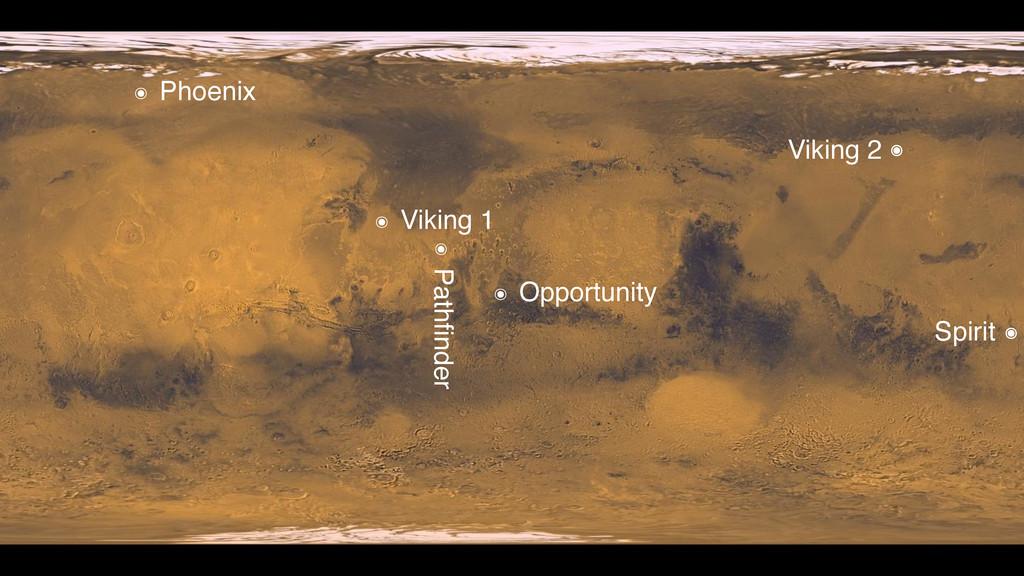 ๏ Viking 1 Viking 2 Spirit ๏ ๏ ๏ Opportunity ๏ ...