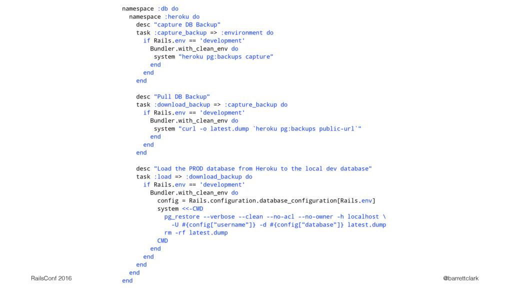 """namespace :db do namespace :heroku do desc """"cap..."""