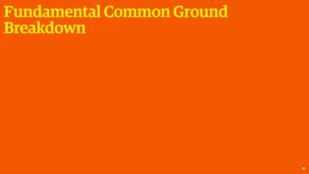 Fundamental Common Ground Breakdown 46