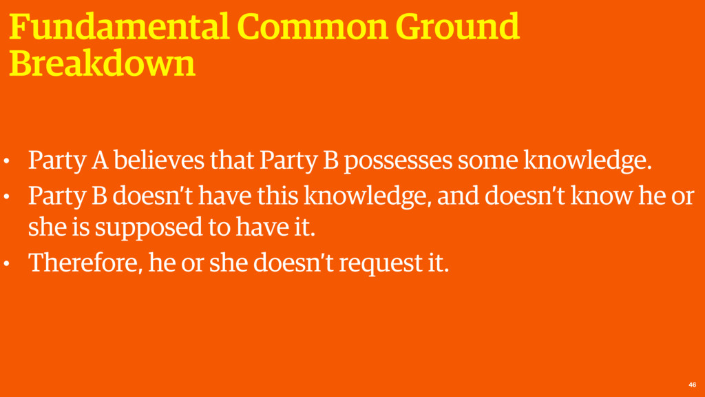 Fundamental Common Ground Breakdown 46 • Party ...