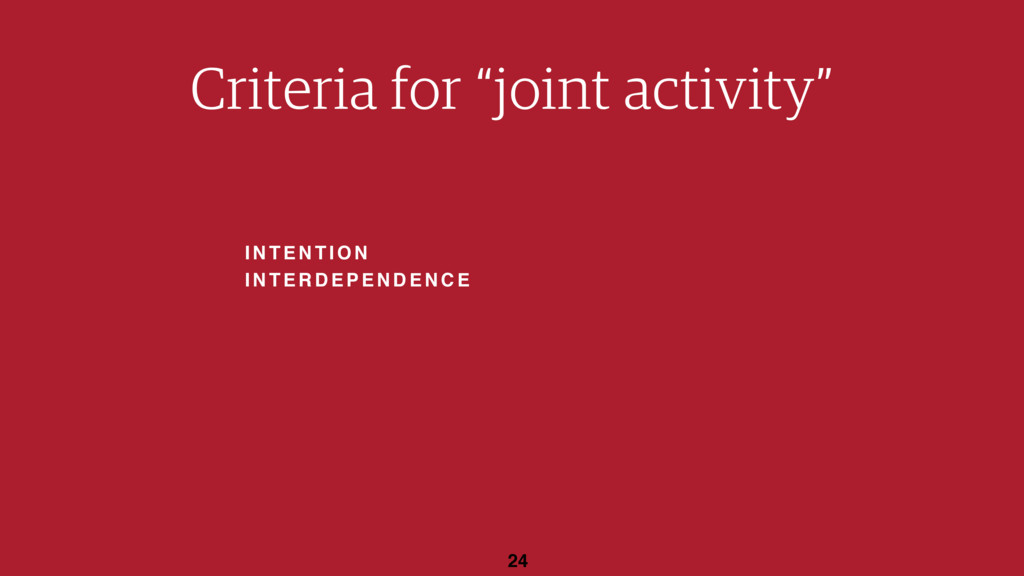 "INTENTION INTERDEPENDENCE 24 Criteria for ""join..."