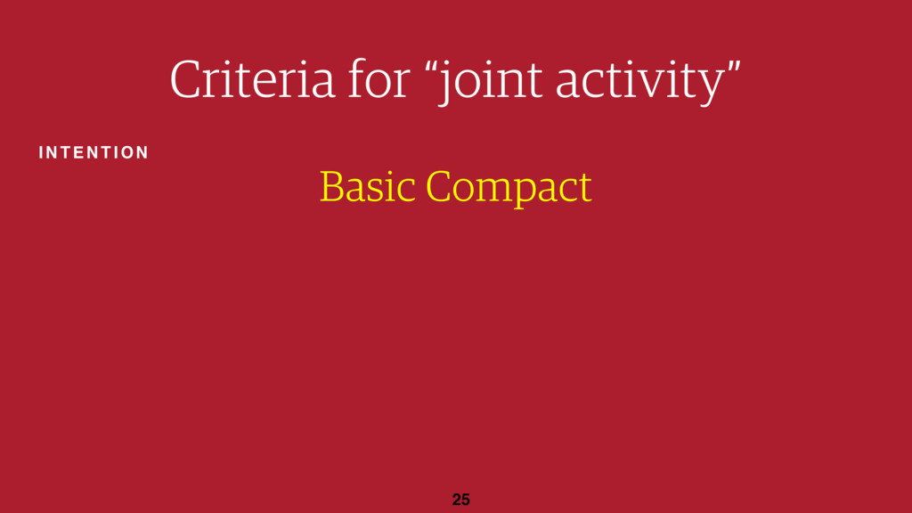 "25 Basic Compact Criteria for ""joint activity"" ..."
