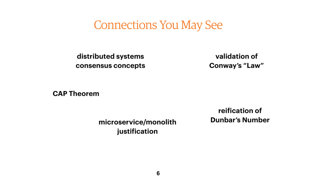 Connections You May See 6 CAP Theorem microserv...
