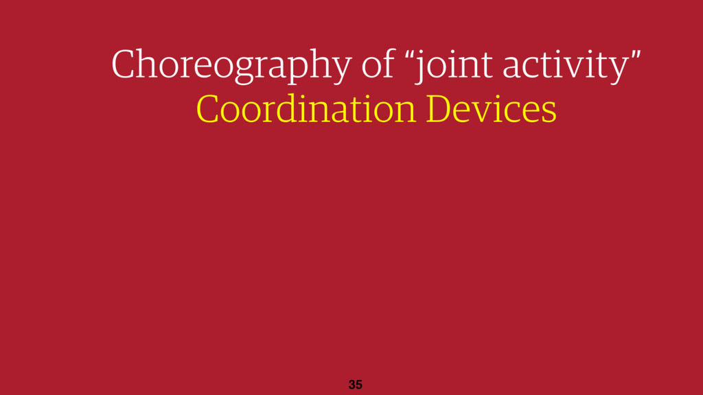 "35 Choreography of ""joint activity"" Coordinatio..."