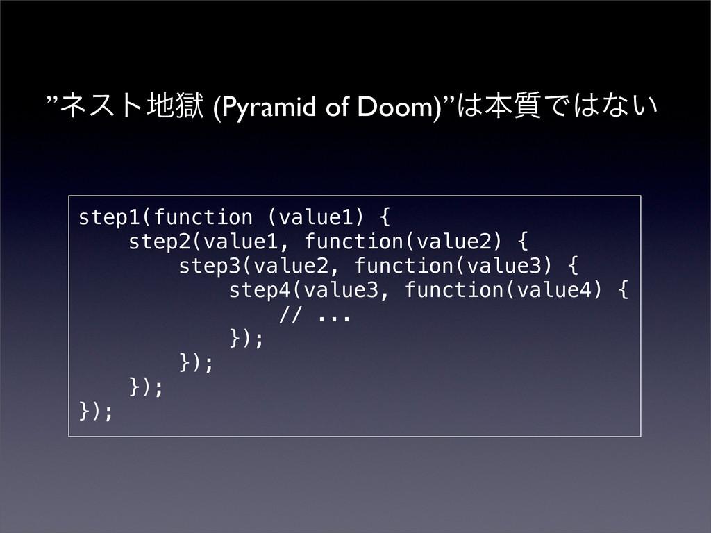 """""""ωετࠈ (Pyramid of Doom)""""ຊ࣭Ͱͳ͍ step1(function..."""
