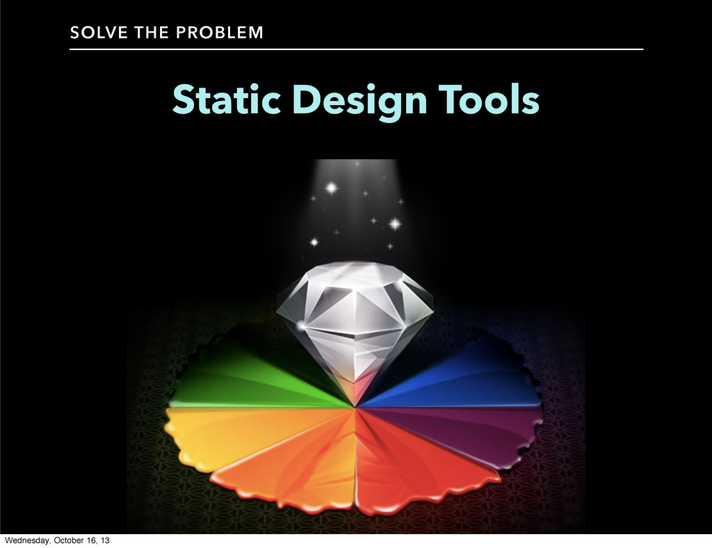 Static Design Tools SOLVE THE PROBLEM Wednesday...
