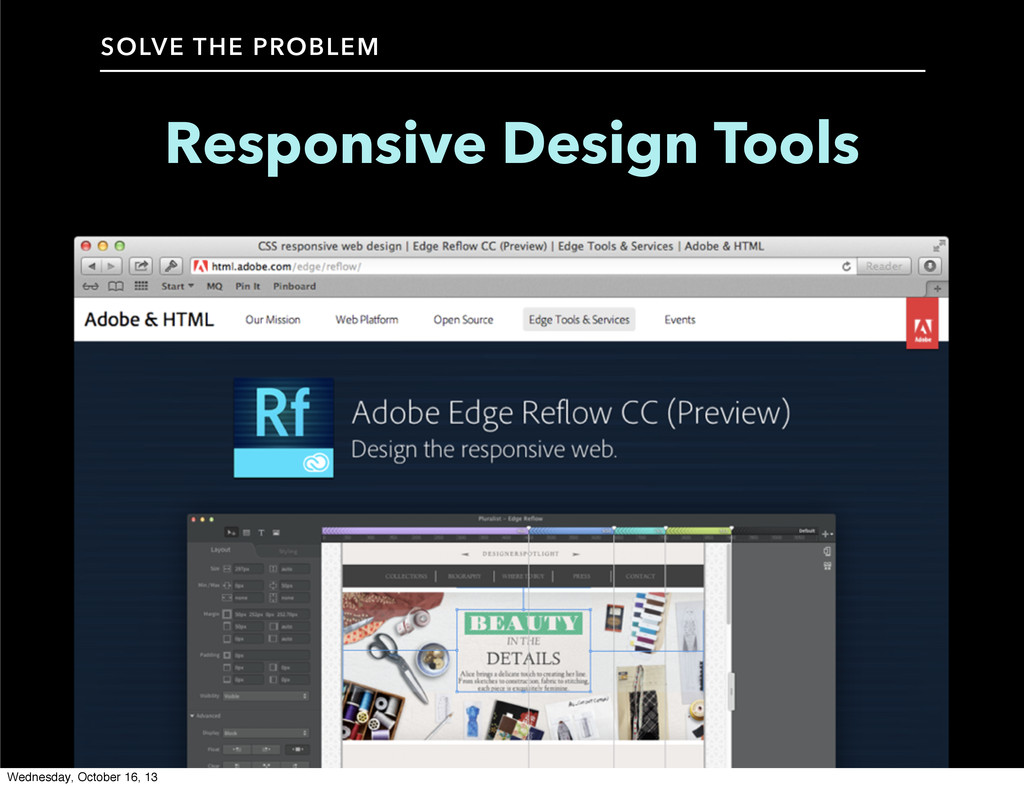 Responsive Design Tools SOLVE THE PROBLEM Wedne...