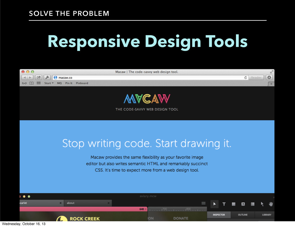 SOLVE THE PROBLEM Responsive Design Tools Wedne...