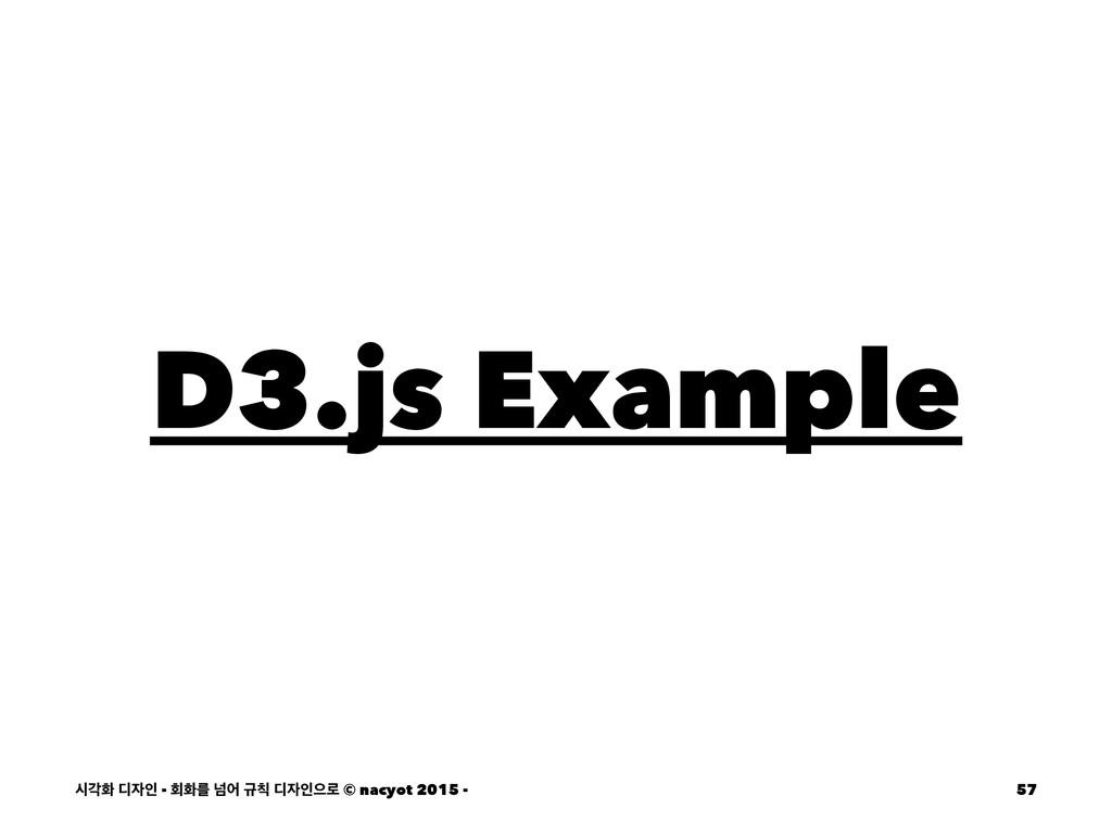 D3.js Example दпച ٣ੋ - ഥചܳ ֈয ӏ ٣ੋਵ۽ © nacyo...