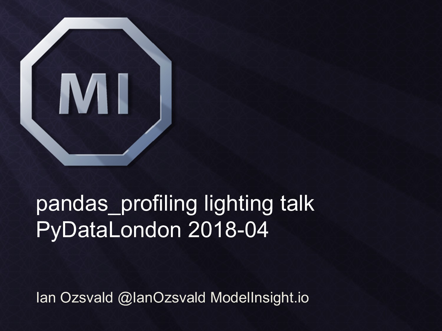 pandas_profiling lighting talk PyDataLondon 201...