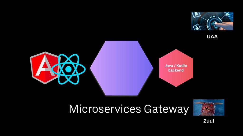 Java / Kotlin backend Zuul UAA Microservices Ga...