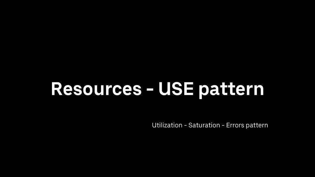 Resources - USE pattern Utilization - Saturatio...