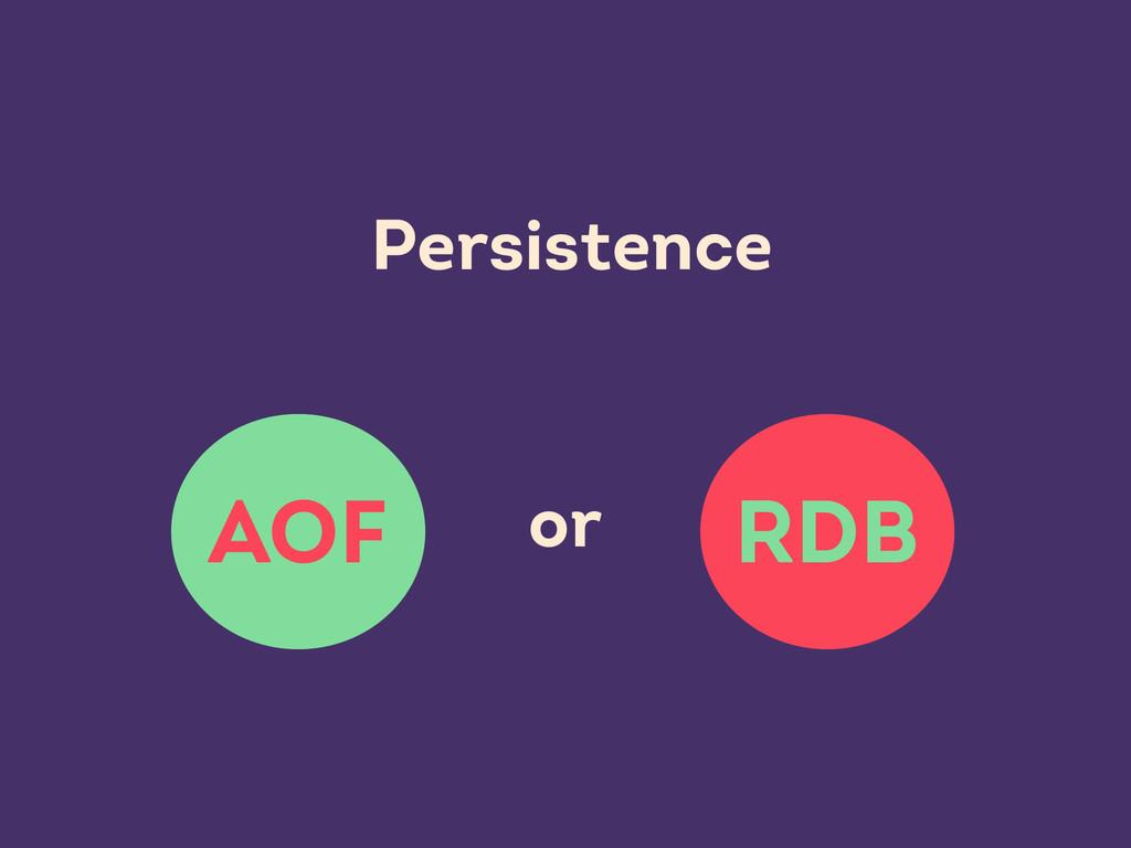 RDB AOF Persistence or