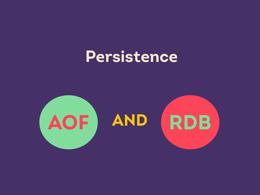 RDB AOF Persistence AND
