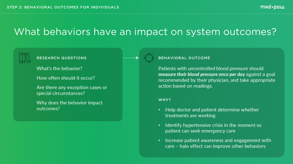 STEP 2: BEHAVIORAL OUTCOMES FOR INDIVIDUALS Wha...