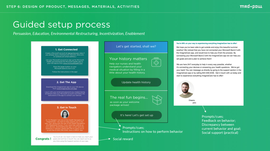 STEP 6: DESIGN OF PRODUCT, MESSAGES, MATERIALS,...