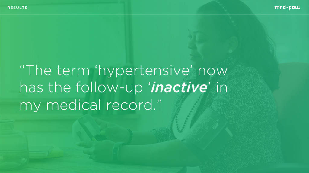 """""""The term 'hypertensive' now has the follow-up ..."""