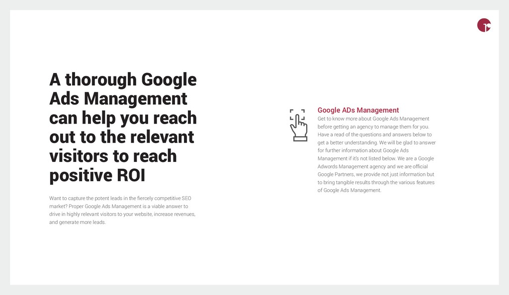 A thorough Google Ads Management can help you r...