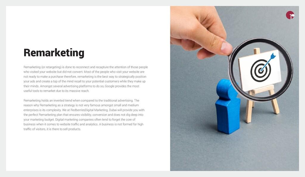 Remarketing Remarketing (or retargeting) is don...