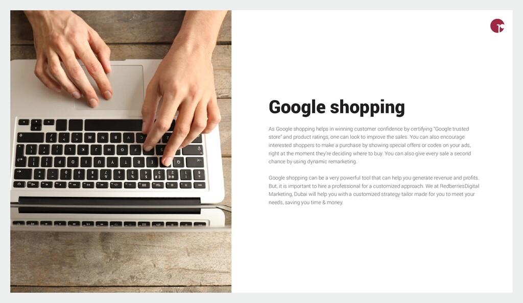 Google shopping As Google shopping helps in win...