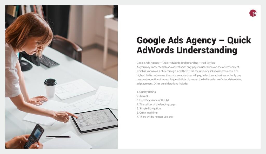 Google Ads Agency – Quick AdWords Understanding...