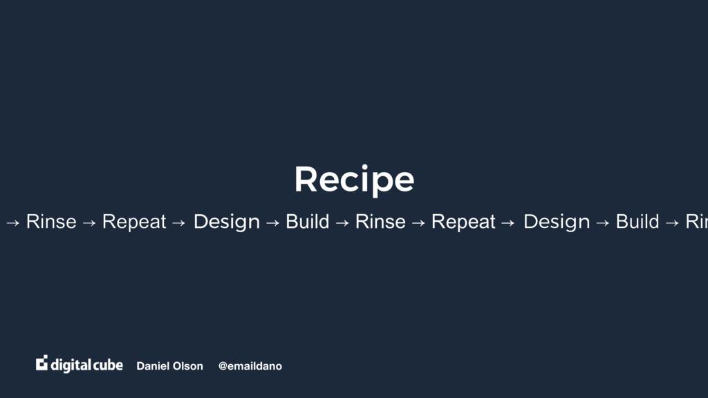 Daniel Olson @emaildano Recipe Design → Build →...